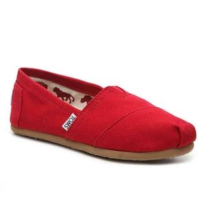 NWOB Tom's Red Flats Size 10
